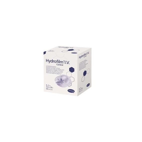 Apósito para fijación de catéter Hydrofilm I.V. control, estéril de 9 x 7 centímetros (50 unidades)