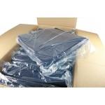 Batas desechables sin manga de 50 gr/m² azul oscuro (100 u)