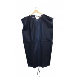 Batas desechables sin manga de 50 gr/m² azul oscuro
