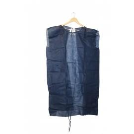 Batas desechables sin manga de 30 gr/m² azul oscuro