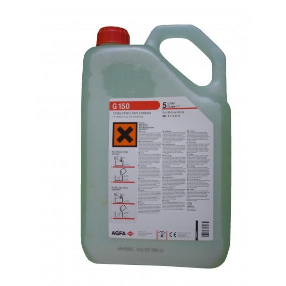 Garrafa de revelador Agfa G-150 de 5 litros para 30 litros