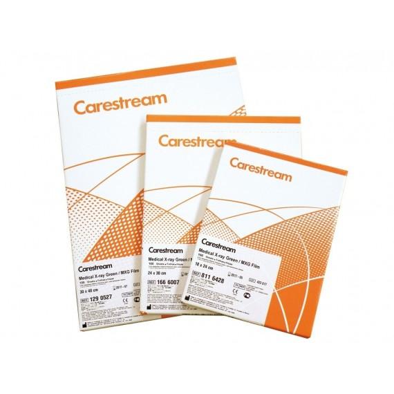 Película RX Carestream MXG de 18 x 24 centímetros (100 unidades)