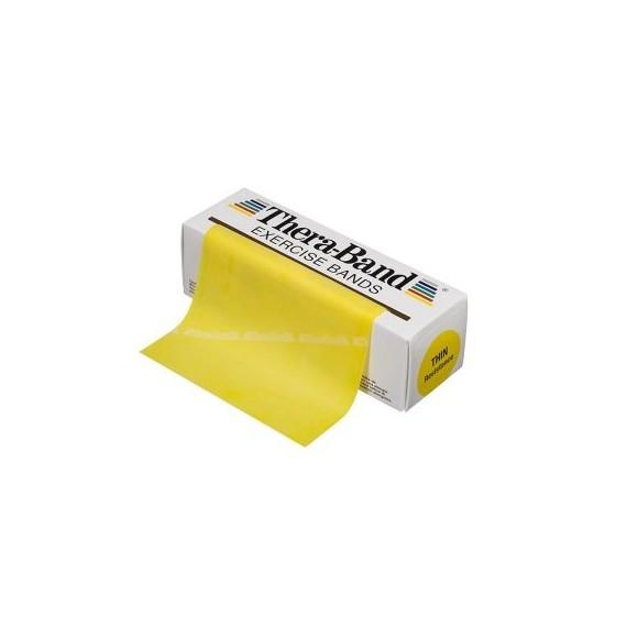 Cinta elástica Thera-band amarillo suave de 5,5 metros