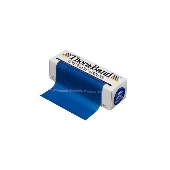 Cinta elástica Thera-band azul extra fuerte de 5,5 metros