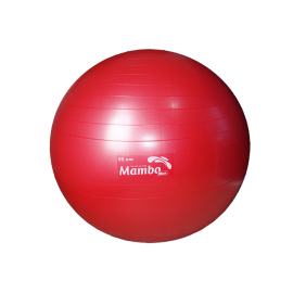 Pelota AB Gym de 55 centímetros color rojo