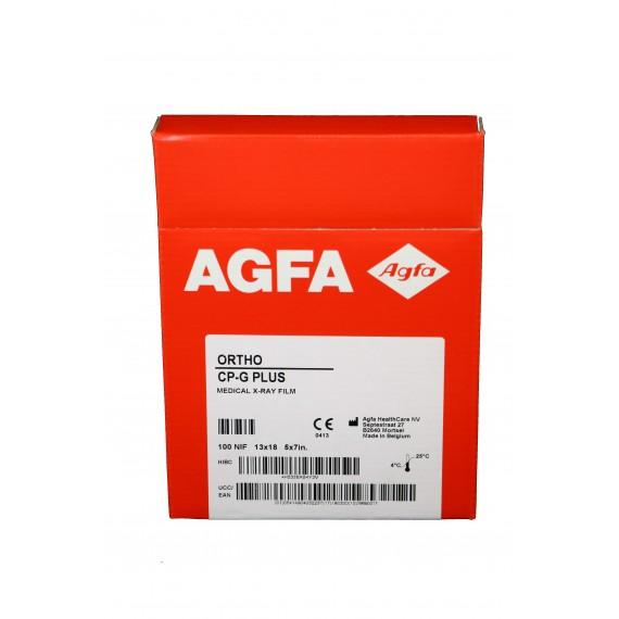 Película RX Agfa Ortho CP-G Plus de 13 x 18 centímetros (100 unidades)