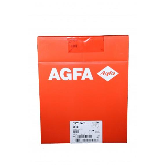 Película RX Agfa Drystar DT 2 B de 28 x 35 centímetros (100 unidades)