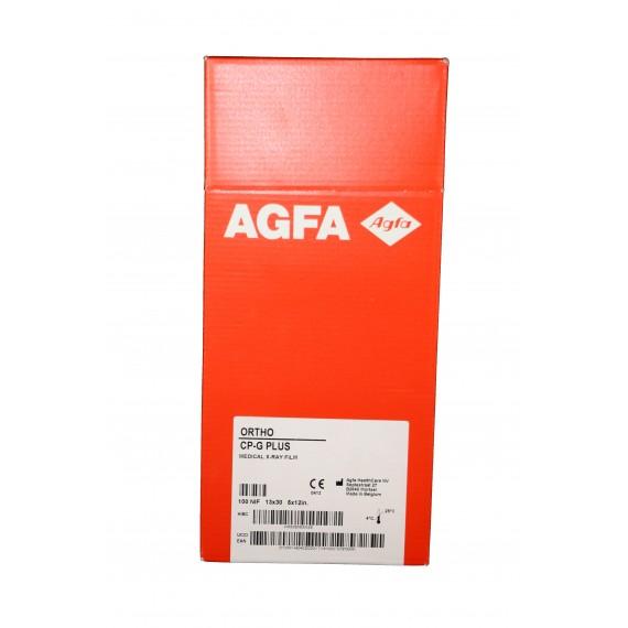 Película RX Agfa Ortho CP-G Plus de 13 x 30 centímetros (100 unidades)