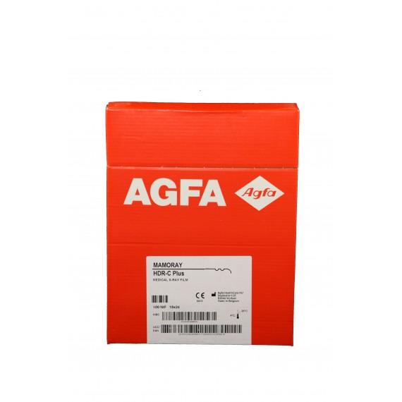 Película RX Agfa Mamoray HDR-C Plus de 18 x 24 centímetros (100 unidades)