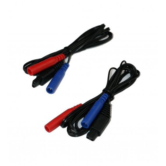 Cables para Emp 2 Pro, Tens Eco 2 y Xtr2 (1 juego de 2 unidades)