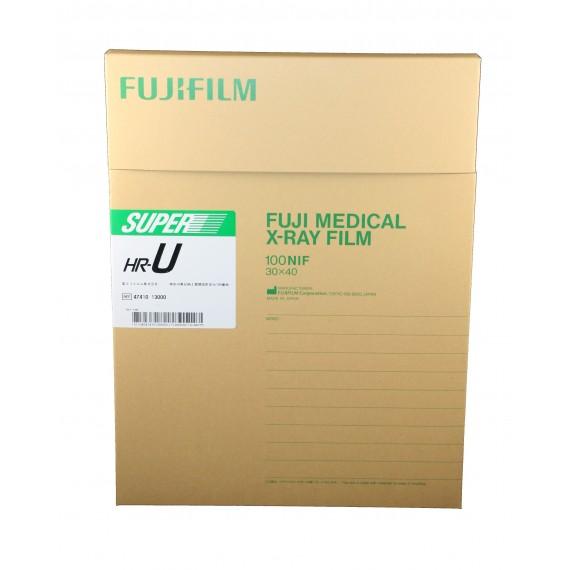 Película RX Fuji Super HR-U de 30 x 40 centímetros (100 unidades)