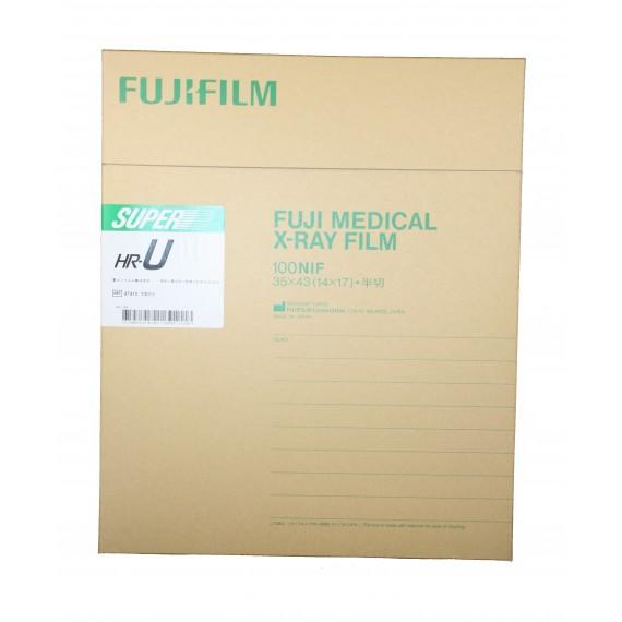 Película RX Fuji Super HR-U de 35 x 43 centímetros (100 unidades)