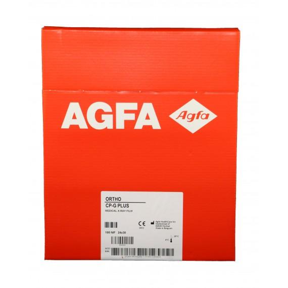 Película RX Agfa Ortho CP-G Plus de 24 x 30 centímetros (100 unidades)