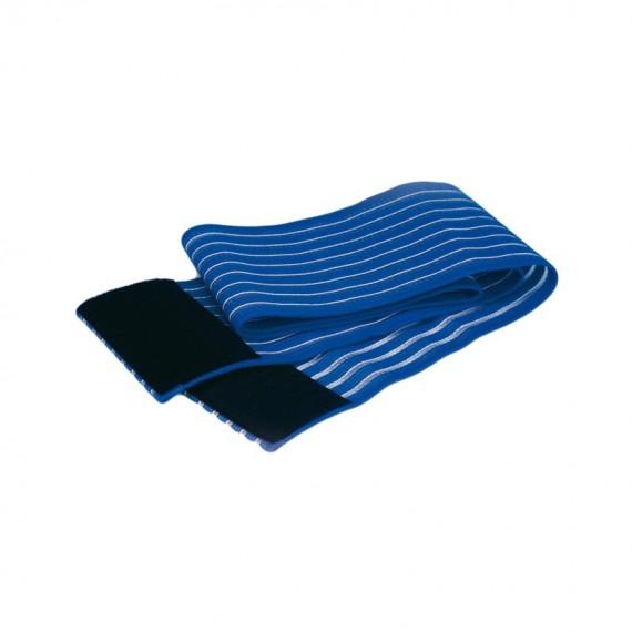 Cincha elástica de fijación con velcro de 8 x 60 centímetros color azul