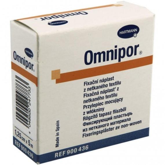 Esparadrapo hipoalergénico de papel Omnipor de 1,25 centímetros x 5 metros