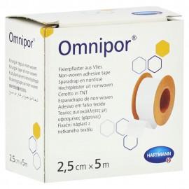 Esparadrapo hipoalergénico de papel Omnipor de 2,5 centímetros x 5 metros