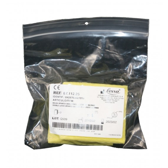Fundas portaelectrodos esponja doble de 50 x 50 milímetros (2 unidades)