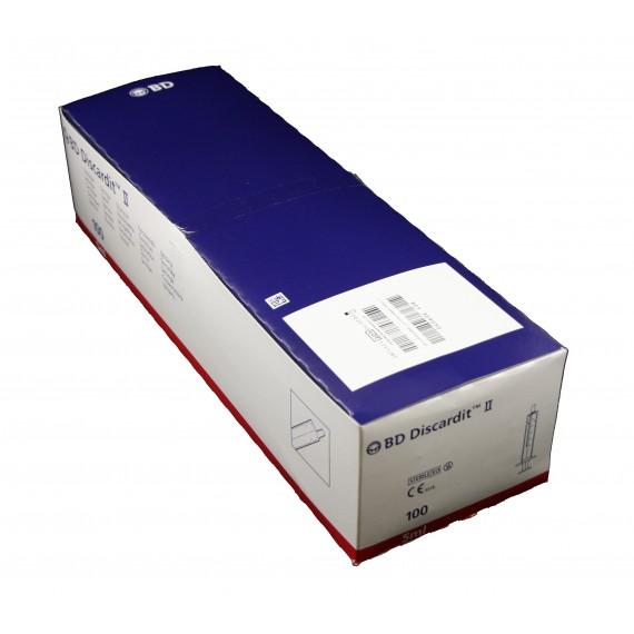Jeringas de 5 mililitros y 2 piezas BD Discardit II (100 unidades)