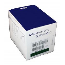 "Agujas hipodérmicas BD Microlance 3 de 0,8 x 25 milímetros 21G x 1"" Verde"