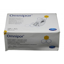 Esparadrapos de papel Omnipor de 1,25 centímetros x 9,2 metros -formato hospital