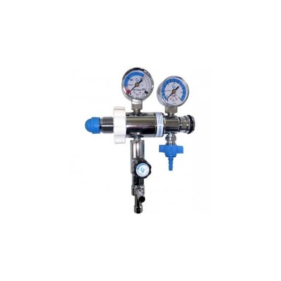 Regulador de presión fija con caudalímetro y aspiración