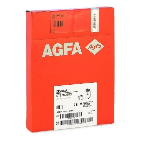 Película RX Agfa Drystar DT 2 Mammo de 20,3 x 25,4 centímetros (100 unidades)