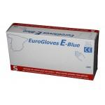 Guantes de nitrilo sin polvo Eurogloves E-Blue (talla pequeña) (100 unidades)
