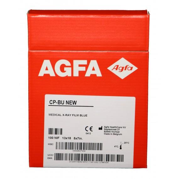 Película RX Agfa CP-BU New de 13 x 18 centímetros (100 unidades)