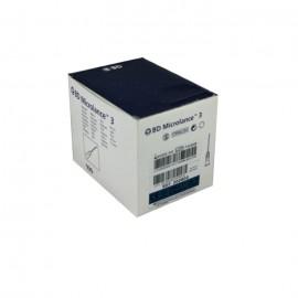 "Agujas desechables BD Microlance 3 Azul 23G x 1"" de 0,6 x 25 milímetros"