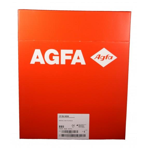 Película RX Agfa CP-BU New de 35 x 43 centímetros (100 unidades)