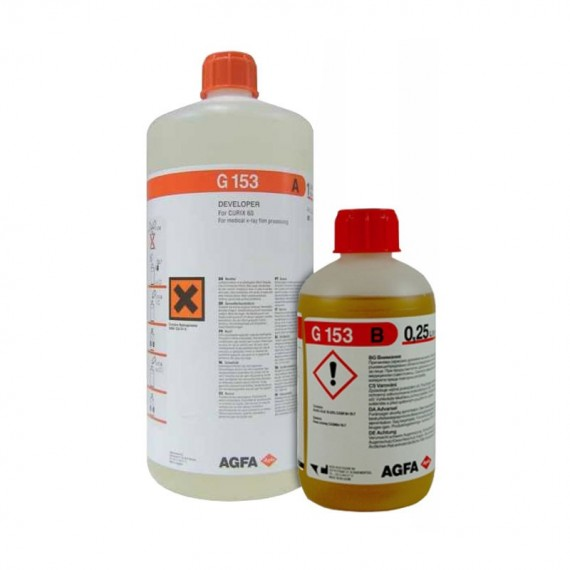 Revelador Agfa G-153 (botellas para 2,5 litros)