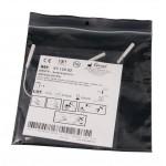 Electrodos adhesivos estimulación Lessa de 50 x 50 milímetros con cables conexión hembra de 2 mm (4 unidades)